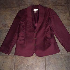 Bloomingdales wool burgundy jacket